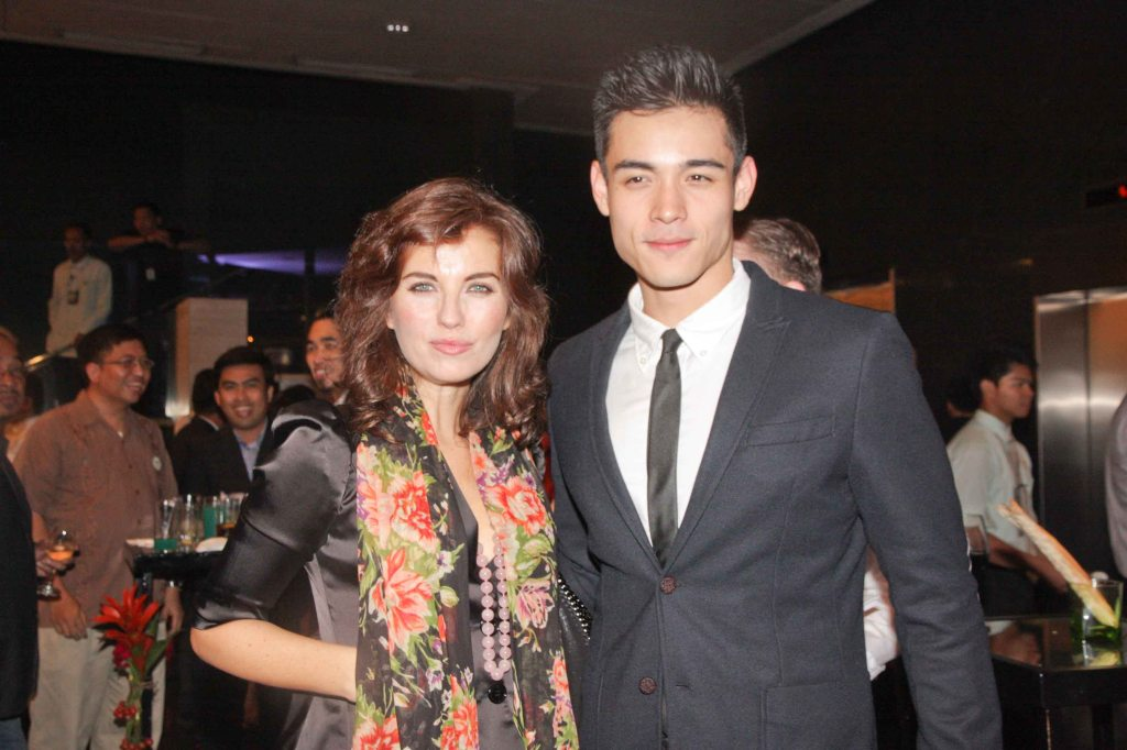 Actress Vanessa Gravina, The Godmother of Moviemov and Xian Lim. The Moviemov: Italian Film Fest rolled out the red carpet at the Ayala Museum and GB3 cinema. Photo by Jude Bautista.
