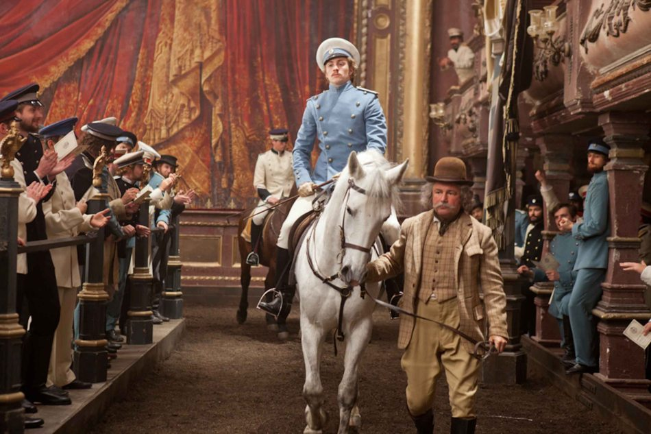 Aaron Taylor-Johnson (Count Vronsky) on horseback. Even a horse race is shot in the theater. ANNA KARENINA is exclusively shown in Resort's World Manila, Megaworld Lifestyle malls such as Eastwood City and Lucky Chinatown Mall.