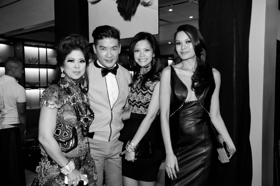 from right: Apples Aberin, Digzy Umali, Best Dressed King and Queen Tim Yap and Tessa Prieto Valdes during the FURNitalia Pelle Leather ball at the Bonifacio Global City showroom 30th cor Rizal Drive. Photo by Jude Bautista