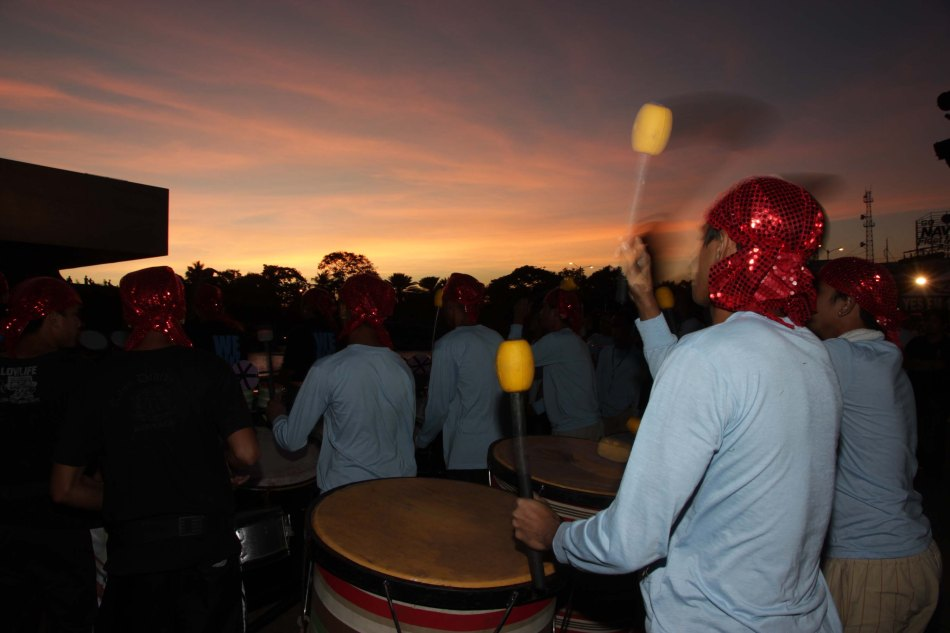 They beat their drums underneath the golden sunset of Manila Bay. Catch the ALIWAN Fiesta from April 11-13, 2013 at the CCP Complex. Photo by Jude Bautista.