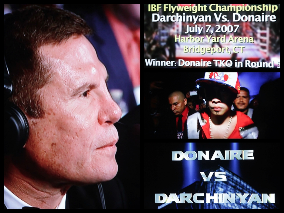 left: Boxing Hall of Famer Julio Cesar Chavez at ringside is considered as one of the best fighters to come from Mexico.