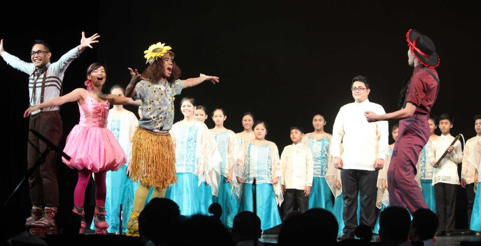 Tanghalang Pilipino Actors present NAMCYA winner Baao Children & Youth Choir performed at PASINAYA festival in CCP. The 10th edition expanded to the National Museum and Metropolitan Museum and other establishments last March 16, 2014. Photo by Jude Bautista