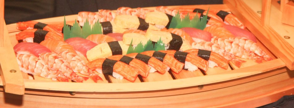AKIRA-Shang East wing and SUMOSAM provided authentic & sumptuous sushi during The Eiga Sai Opening. The Eiga Sai Japanese Film Festival will screen films for free from July 4 to 13, 2014 at the Shang Cineplex, Shang Rila Plaza Mall. Photo by Jude Bautista