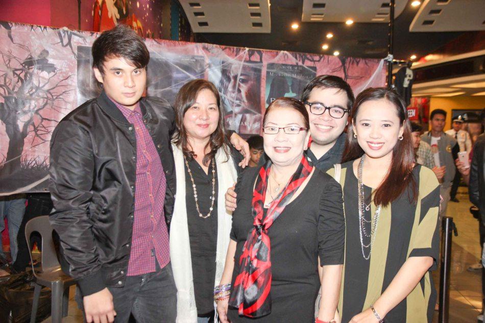 from left: Mavi Lozano, Elaine Lozano, Baby Nebrida, Jodi Nebrida and Christine Nebrida. Catch the HORROR PLUS Film Fest from October 29-Nov.14, 2014 at SM Cinemas. Photo by Jude Bautista